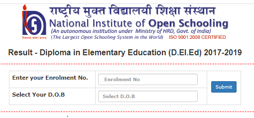 NIOS Deled Result 2021 - 2022 Supplementary Exam Result Date